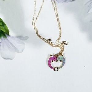 Claire's BFF magnetic dolphin necklace set